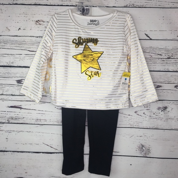 NWT UNDER ARMOUR GIRLS SHINE LIKE THE STARS TWO PIECE SET SIZE 3-6 OR 6-9 MONTHS